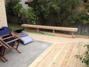 Corner decking extension
