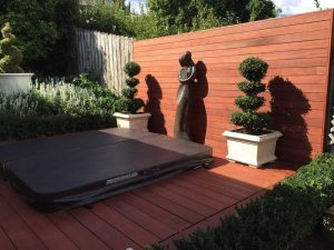 decking extension with built in jacuzzi